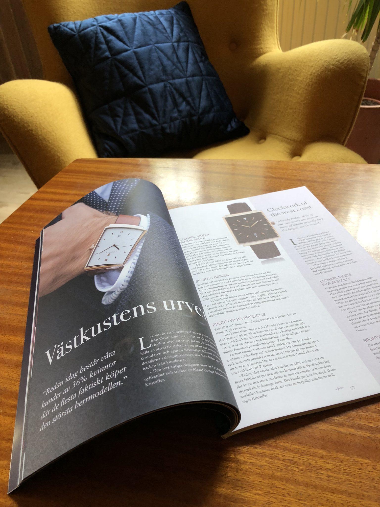 Precious Magazine 2018 producerad för Nordens största ur- och smyckemässa.